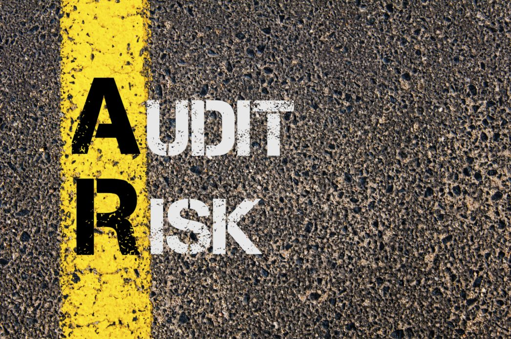 Audit Risk painted on street