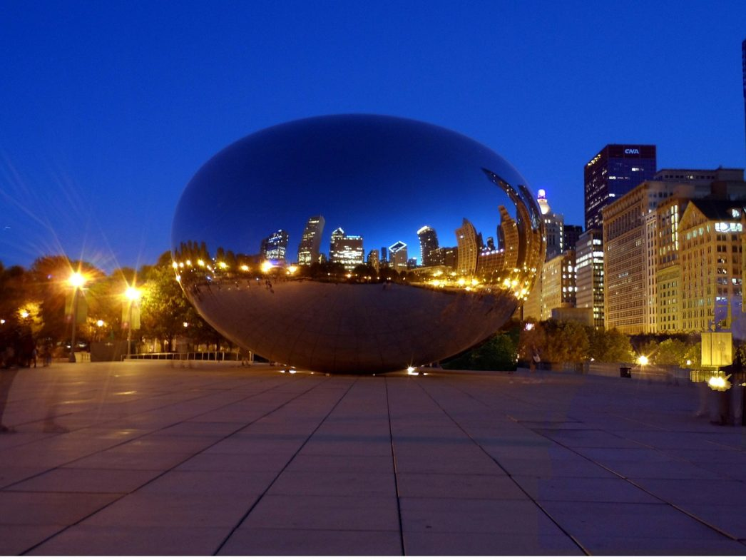 Chicago Bean at Night